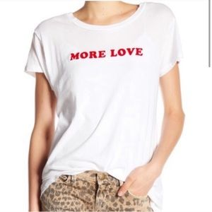 Current/ Elliot. Love More. Graphic text tee.